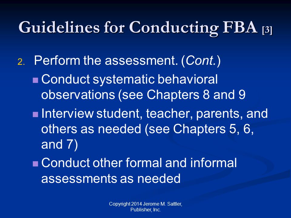 Guidelines for Conducting FBA [3]